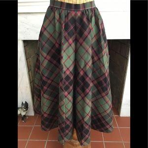 Vintage 60's Wool Plaid Skirt